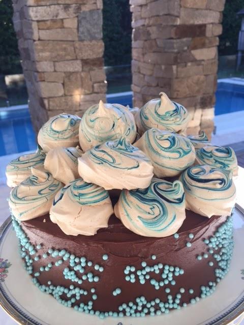Celebration Marble Cake with Velvet Icing