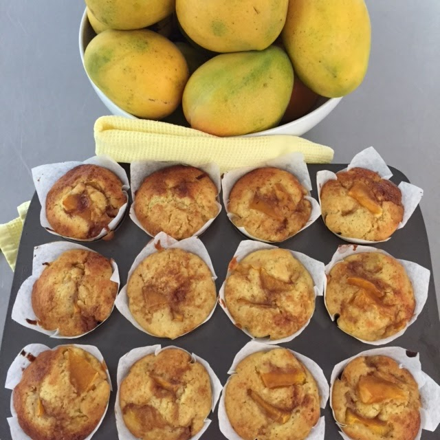 Father's Day Mango, Lime and Coconut Muffins
