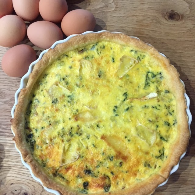 Organic Egg, Herb and Spinach Quiche